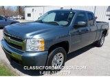 2011 Blue Granite Metallic Chevrolet Silverado 1500 Extended Cab #93246120