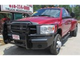 2008 Inferno Red Crystal Pearl Dodge Ram 3500 SLT Quad Cab 4x4 Dually #93289319