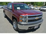 2014 Deep Ruby Metallic Chevrolet Silverado 1500 WT Double Cab 4x4 #93289367