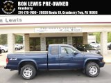 2004 Patriot Blue Pearl Dodge Dakota Sport Club Cab 4x4 #93337421
