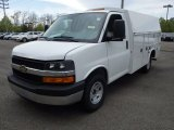 2014 Summit White Chevrolet Express Cutaway 3500 Utility Van #93337190