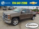2014 Brownstone Metallic Chevrolet Silverado 1500 LTZ Double Cab 4x4 #93337713