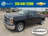 2014 Black Chevrolet Silverado 1500 WT Double Cab 4x4 #93337712