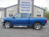 2011 Deep Water Blue Pearl Dodge Ram 1500 Big Horn Quad Cab 4x4 #93566187