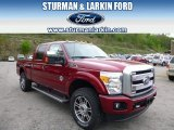 2015 Ruby Red Ford F250 Super Duty Platinum Crew Cab 4x4 #93565825