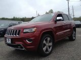 2014 Deep Cherry Red Crystal Pearl Jeep Grand Cherokee Overland 4x4 #93565665