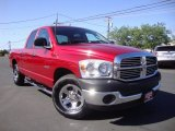 2008 Inferno Red Crystal Pearl Dodge Ram 1500 SXT Quad Cab #93566062