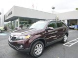 2011 Dark Cherry Kia Sorento LX AWD #93566050