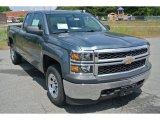 2014 Blue Granite Metallic Chevrolet Silverado 1500 WT Double Cab 4x4 #93632012