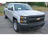 2014 Silver Ice Metallic Chevrolet Silverado 1500 WT Double Cab 4x4 #93632011