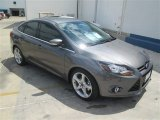 2014 Sterling Gray Ford Focus Titanium Sedan #93666836