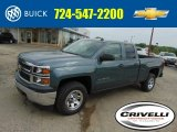 2014 Blue Granite Metallic Chevrolet Silverado 1500 WT Double Cab 4x4 #93667148