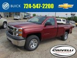 2014 Deep Ruby Metallic Chevrolet Silverado 1500 WT Regular Cab 4x4 #93667147