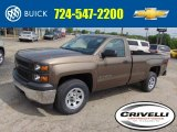 2014 Brownstone Metallic Chevrolet Silverado 1500 WT Regular Cab 4x4 #93667146