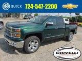 2014 Rainforest Green Metallic Chevrolet Silverado 1500 LTZ Crew Cab 4x4 #93667145