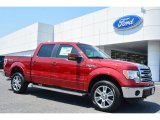 2014 Ruby Red Ford F150 Lariat SuperCrew 4x4 #93666954