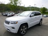 2014 Bright White Jeep Grand Cherokee Overland 4x4 #93667104