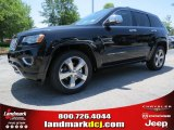 2014 Brilliant Black Crystal Pearl Jeep Grand Cherokee Overland #93705142