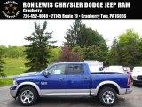 2014 Blue Streak Pearl Coat Ram 1500 Laramie Crew Cab 4x4 #93705050