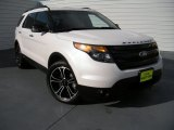 2013 White Platinum Tri-Coat Ford Explorer Sport 4WD #93705258