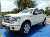 2014 White Platinum Ford F150 Platinum SuperCrew 4x4 #93752373