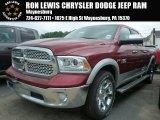 2014 Deep Cherry Red Crystal Pearl Ram 1500 Laramie Crew Cab 4x4 #93752525
