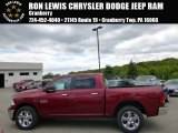 2014 Deep Cherry Red Crystal Pearl Ram 1500 Big Horn Crew Cab 4x4 #93792927