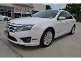 2010 White Platinum Tri-coat Metallic Ford Fusion Hybrid #93793154