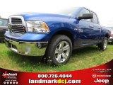 2014 Blue Streak Pearl Coat Ram 1500 SLT Quad Cab #93869855