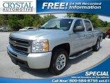 2011 Sheer Silver Metallic Chevrolet Silverado 1500 LS Crew Cab #93896745