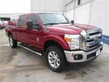 2015 Ruby Red Ford F250 Super Duty Lariat Crew Cab 4x4 #93896334