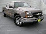 2006 Graystone Metallic Chevrolet Silverado 1500 LS Crew Cab #93932154