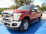 2015 Ruby Red Ford F250 Super Duty XLT Crew Cab 4x4 #93983545