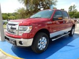 2014 Ruby Red Ford F150 XLT SuperCrew 4x4 #93983538