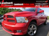 2012 Flame Red Dodge Ram 1500 Sport Crew Cab #94054093