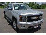 2014 Silver Ice Metallic Chevrolet Silverado 1500 LTZ Crew Cab 4x4 #94054295