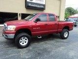 2006 Inferno Red Crystal Pearl Dodge Ram 1500 SLT Quad Cab 4x4 #94090532