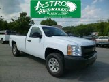 2008 Summit White Chevrolet Silverado 1500 Work Truck Regular Cab 4x4 #94133917