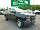 2014 Black Chevrolet Silverado 1500 WT Regular Cab 4x4 #94133916