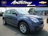 2014 Atlantis Blue Metallic Chevrolet Equinox LS AWD #94133969