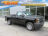 2014 Black Chevrolet Silverado 1500 WT Regular Cab 4x4 #94133409