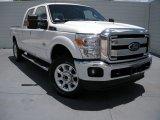 2015 White Platinum Ford F250 Super Duty Lariat Crew Cab 4x4 #94175839