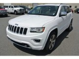 2014 Bright White Jeep Grand Cherokee Overland 4x4 #94176054