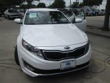 2013 Snow White Pearl Kia Optima Hybrid LX #94219014