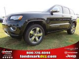 2014 Brilliant Black Crystal Pearl Jeep Grand Cherokee Overland #94292427