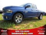 2014 Blue Streak Pearl Coat Ram 1500 Sport Quad Cab #94292456