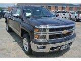 2014 Tungsten Metallic Chevrolet Silverado 1500 LTZ Crew Cab 4x4 #94320732