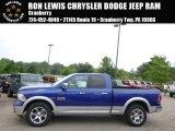 2014 Blue Streak Pearl Coat Ram 1500 Laramie Quad Cab 4x4 #94320401