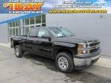 2014 Black Chevrolet Silverado 1500 WT Double Cab 4x4 #94360602