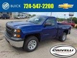 2014 Blue Topaz Metallic Chevrolet Silverado 1500 WT Regular Cab 4x4 #94360962